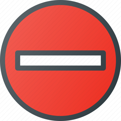 atention, do, enter, not, road, sign, traffic icon
