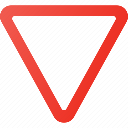 atention, give, road, sign, traffic, way icon