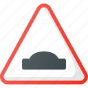 atention, hump, traffic, road, sign icon