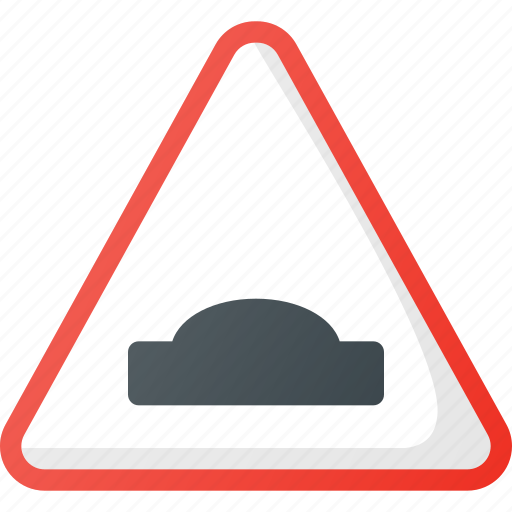 Atention, hump, road, sign, traffic icon - Download on Iconfinder