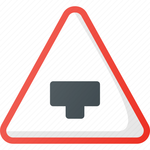 Ahead, atention, major, road, sign, traffic icon - Download on Iconfinder