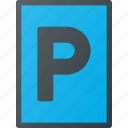 atention, parking, traffic, road, sign icon