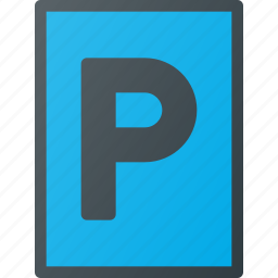 atention, parking, road, sign, traffic icon