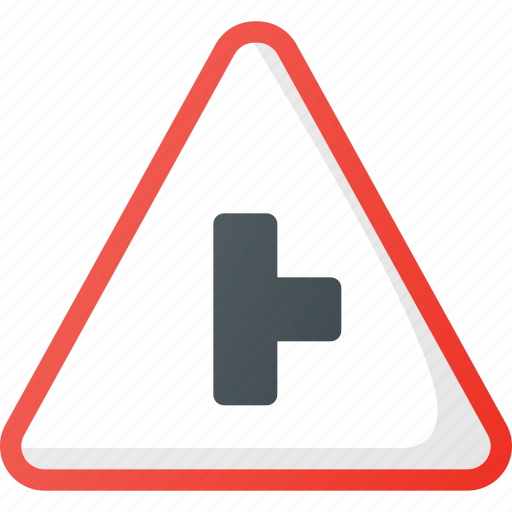 Atention, right, road, sideroad, sign, traffic icon - Download on Iconfinder