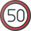 atention, limit, road, sign, speed, traffic icon