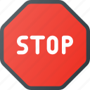 atention, road, sign, stop, traffic