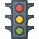 atention, lights, traffic, road, sign icon