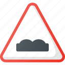 atention, uneven, traffic, road, sign icon
