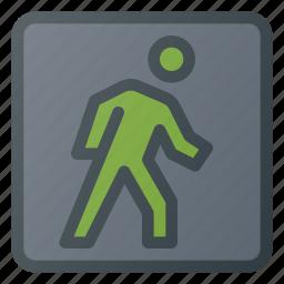 atention, road, sign, traffic, walk icon
