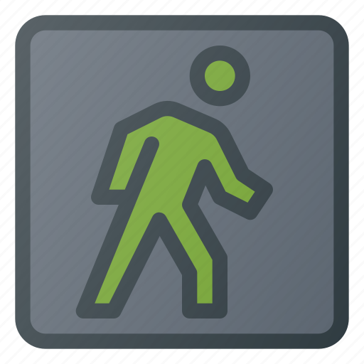 Atention, road, sign, traffic, walk icon - Download on Iconfinder