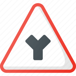 atention, intersection, road, sign, traffic, y icon