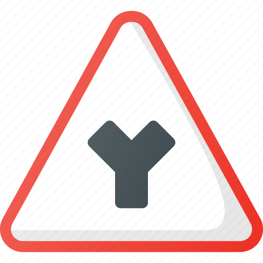 Atention, intersection, road, sign, traffic, y icon - Download on Iconfinder