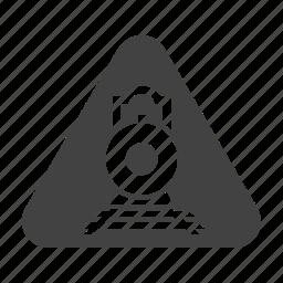 crossing, railroad, railway, road, sign, stop, train icon