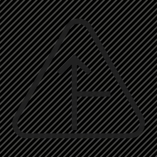 arrow, right, road, sign, traffic, transportation, travel icon