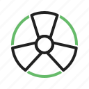 danger, radioactive, safety, sign, toxic, warning, zone icon