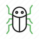 cockroach, infestation, insect, moth, pest, tree, worm icon
