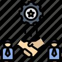 collaborate, business, partnership, corporation, public relation