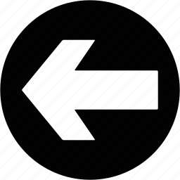 arrow, direction, left, transit icon