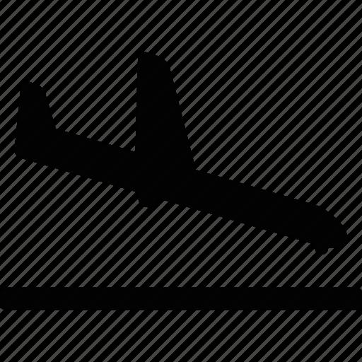 airplane, airport, landing, plane, transit icon
