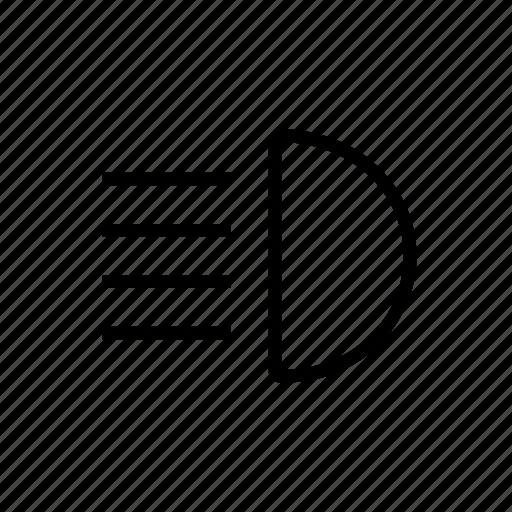 Car, headlight, light, normal, shine, transport icon - Download on Iconfinder