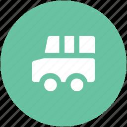 autobus, coach, omnibus, school bus, school van, transportation, travel, van icon