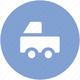 delivery car, delivery van, hatchback, pick up van, van, vehicle icon