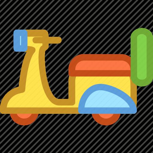 motorbike, motorcycle, vehicle, vespa, vespa scooter icon