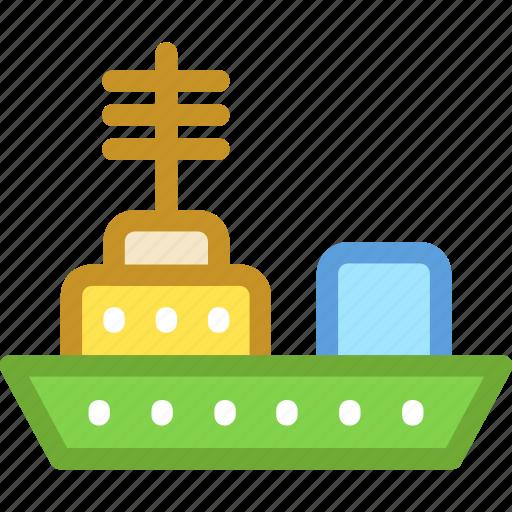 battleship, military ship, naval ship, navy ship, warship icon