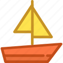 boat, sailboat, sailing vessel, ship, yacht icon