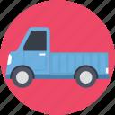 delivery car, delivery van, hatchback, pick up van, van icon