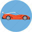 automobile, car, ferrari, roofless car, sports car icon