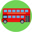 bus, double bus, double decker, transport, vehicle icon