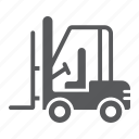cargo, forklift, logistic, machine, transport, truck, vehicle icon