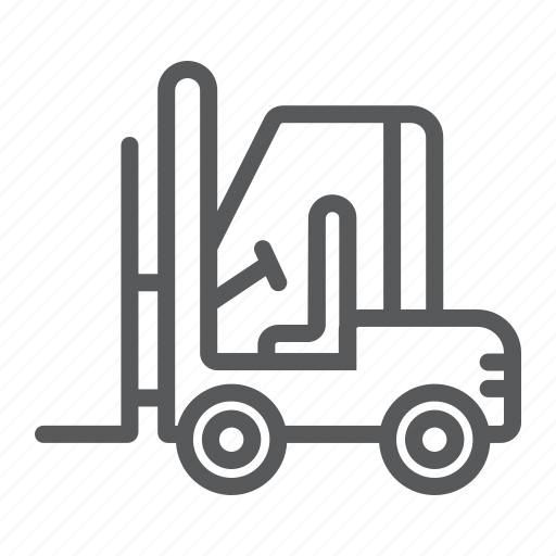 Cargo, forklift, logistic, machine, transport, truck, vehicle icon - Download on Iconfinder