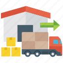 cargo delivery, courier services, delivery, logistic delivery, packaging icon