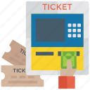 ticket booth, ticket counter, ticket office, ticket selling, ticket window, ticketing icon