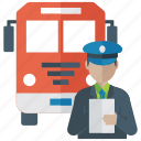 bus driver, bus engineer, conductor, driving instructor, vehicle driver icon