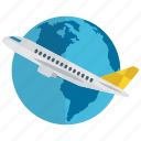 global traveling, international traveling, round the world, world destination, world tour icon