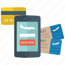 airplane ticket, online reservation, online ticket booking, ticket reservation, ticketing app icon
