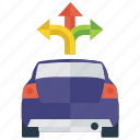 3 way intersection, road sign, three way junction, traffic sign, y intersection icon