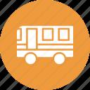 autobus, bus, motorbus, motorcoach icon