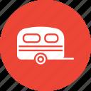 caravan, living van, living vehicle, travel icon