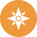 cardinal directions, cardinal points, compass, directions icon