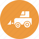 construction, forklift, lifter, shipping icon