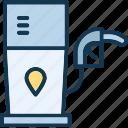 filling pump, filling station, fuel station, fuelling station icon