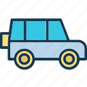 automobile, jeep, transport, travel icon