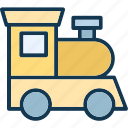 engine, locomotive, steam engine, train icon