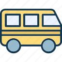 bus, public transport, public vehicle, transport icon
