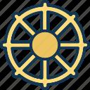 boat wheel, helm, rudder, ship wheel icon