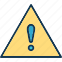 alert, attention, caution, danger icon